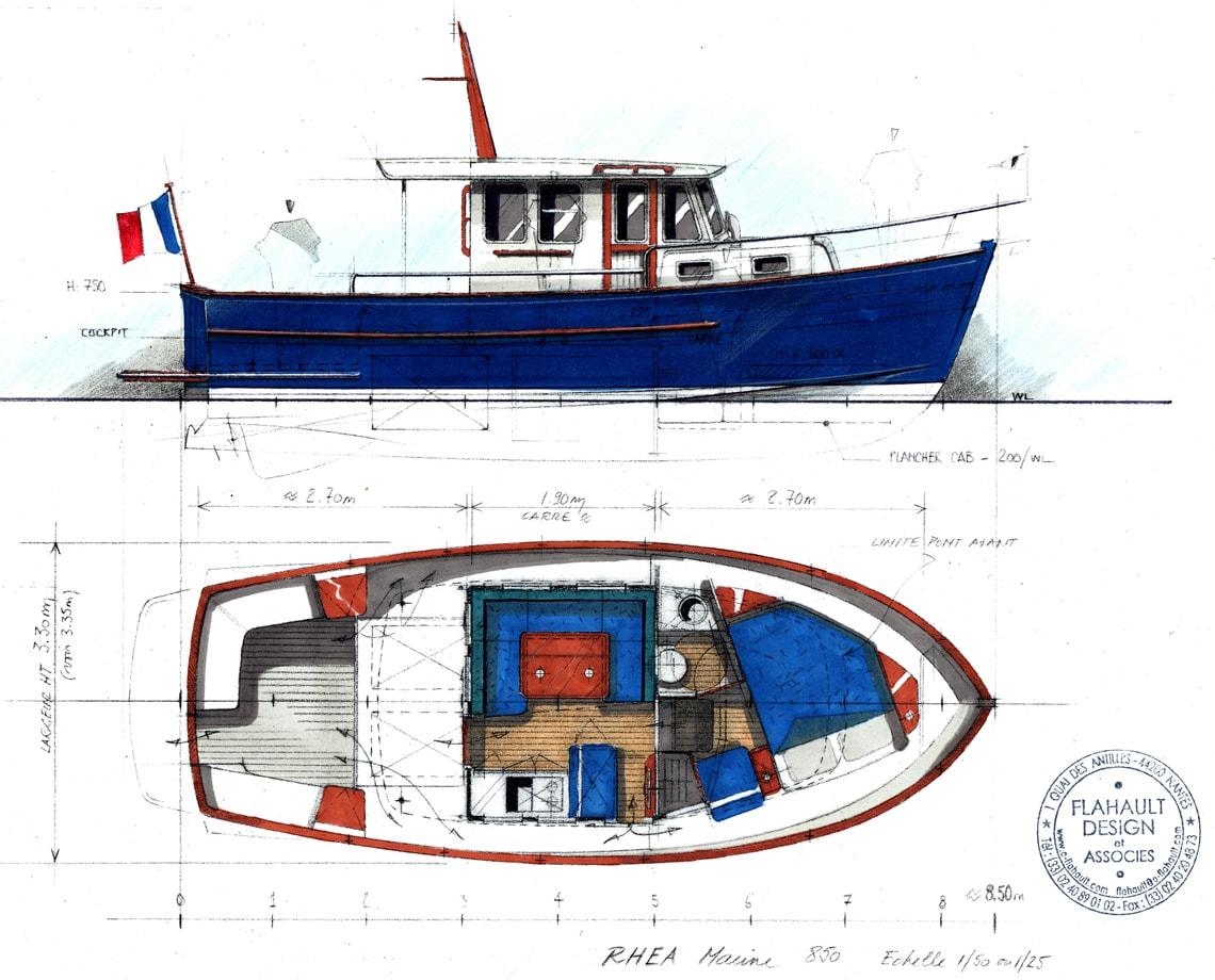Rhea 850 Timonier